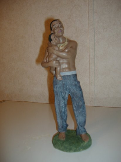 Father and Child Figurine