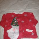 Girls Santa Christmas Sweater By Heirloom Collectibles - Size 4T