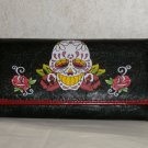 New Black Ej's Tatto Wallet /Checkbook Holder