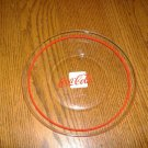 1 Coca~Cola Dinner Plate Clear Glass