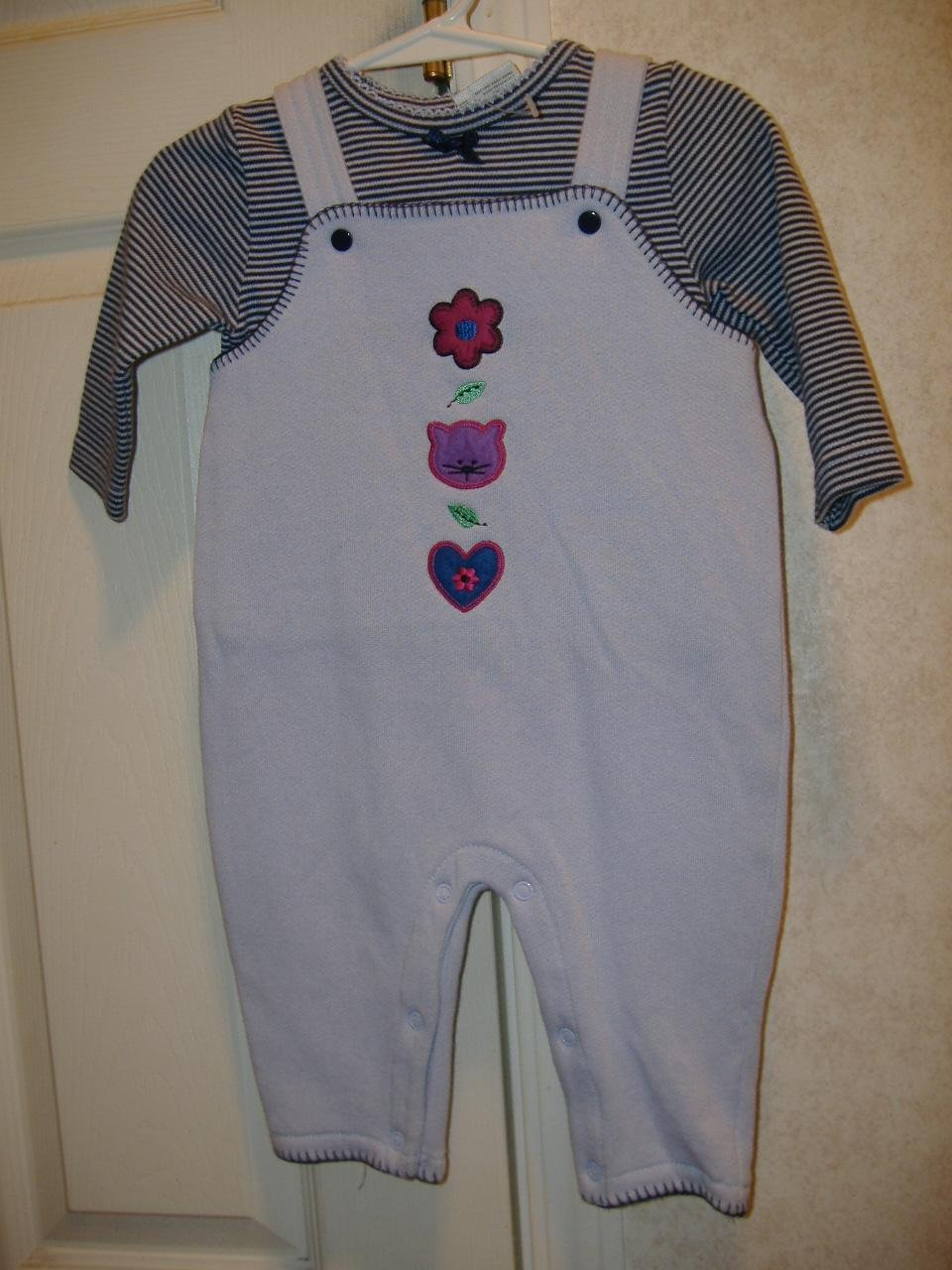 2 Piece Infant Overall Set By Simply Basic