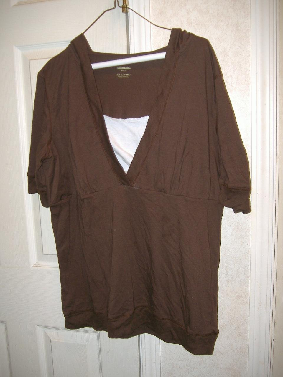 Woman Hooded Top By Bobbie Brooks   Size XL