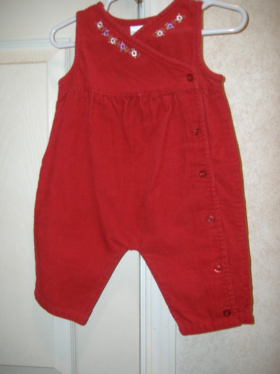 Infant Girl Overall By Little Wonders   Size 0 -3 Months