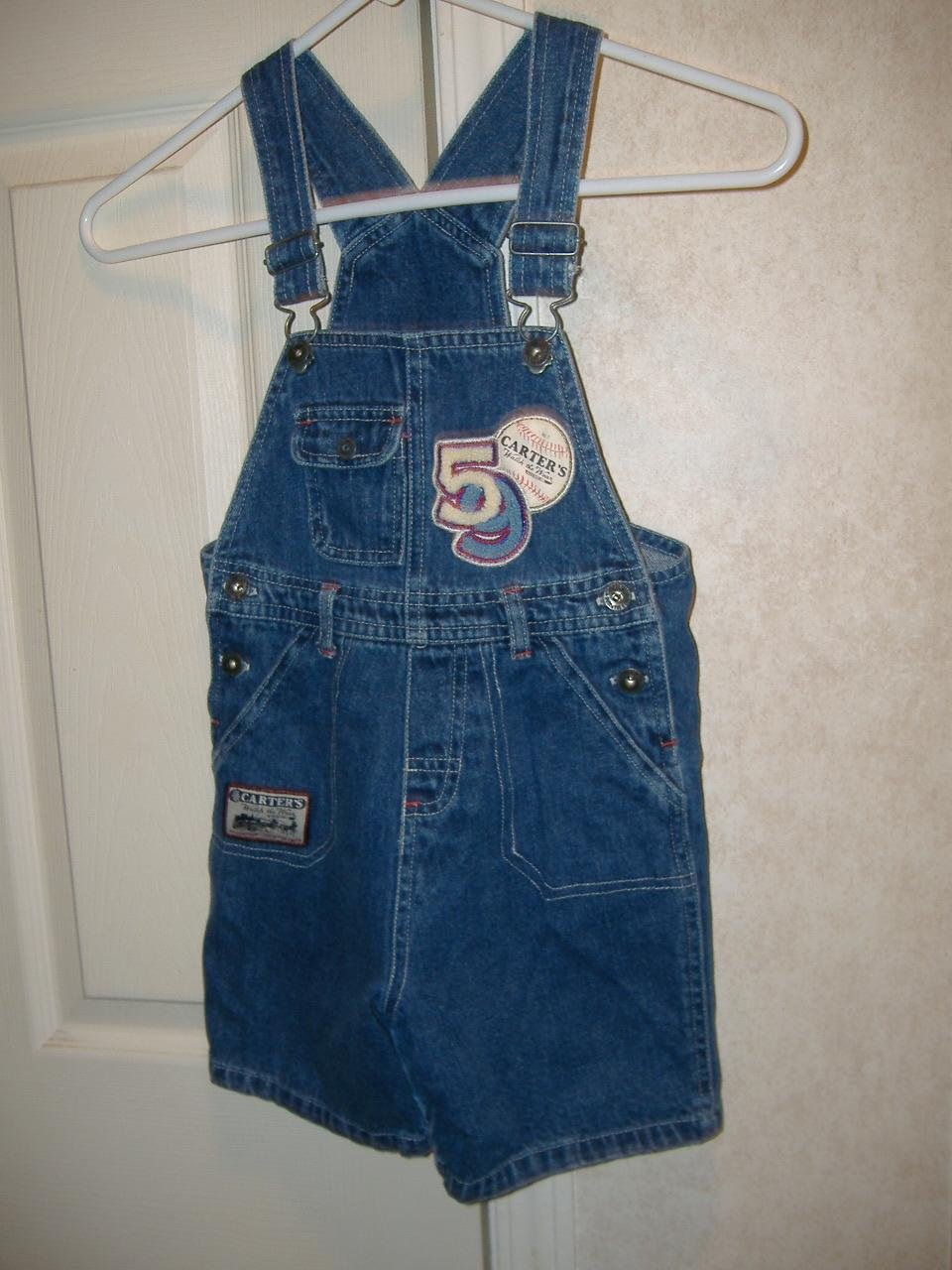Boys Overalls Shorts By Carter's   Size 4T