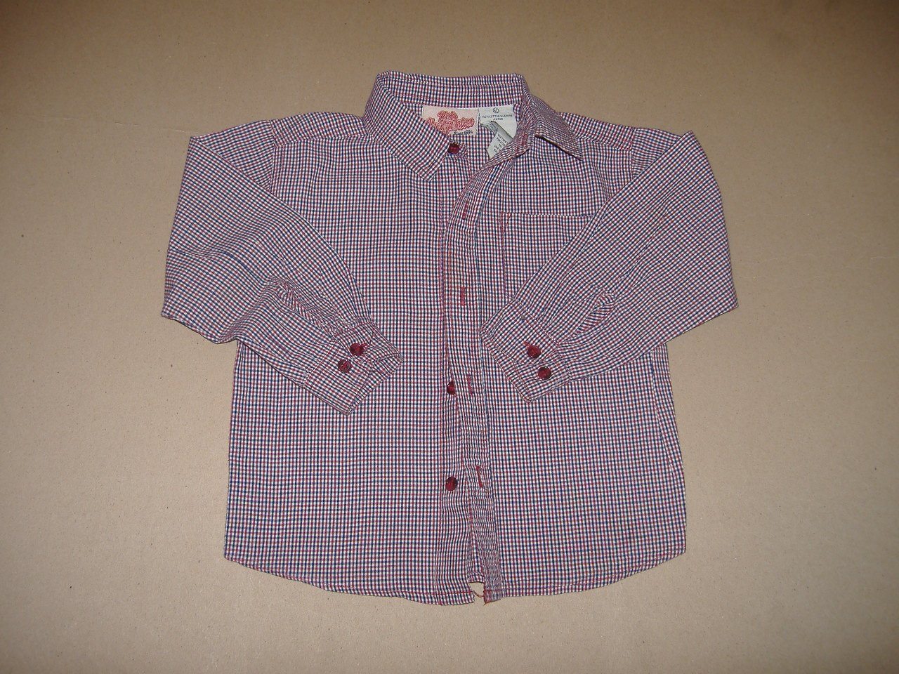 Kids Headquarters Boy's Long Sleeve Shirt   Size 4T