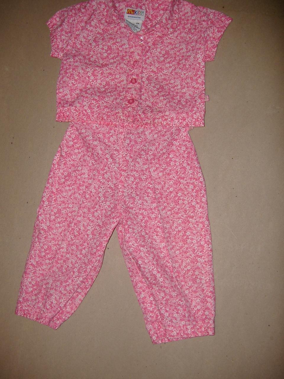 McKids Girl's 2 Piece Set  Size 12 Months