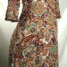 Black Label Junior Paisley Print Dresses   1 Lot Of 5