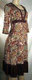 Black Label Junior Paisley Print Dresses   1 Lot Of 5
