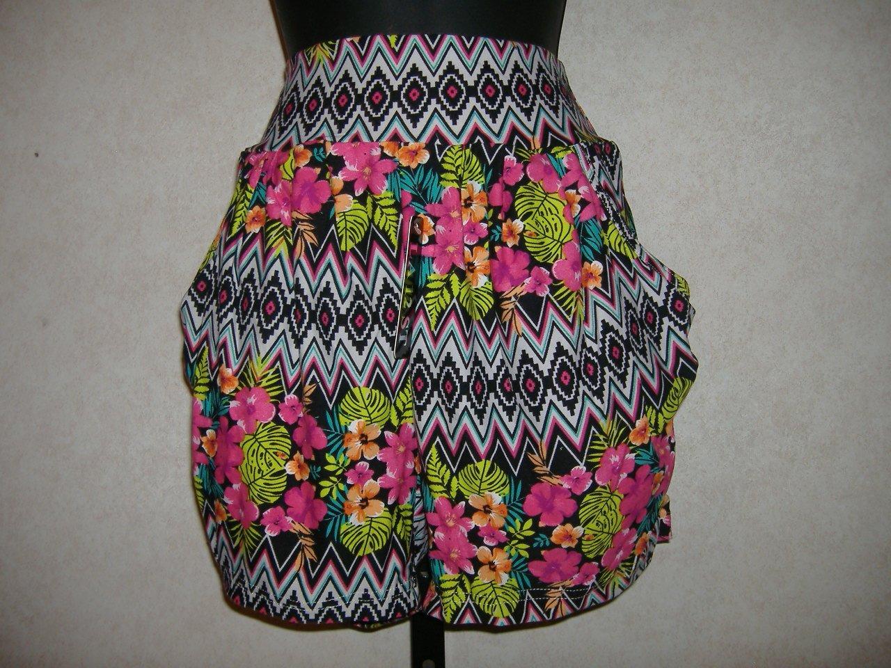 Teen Tribal Print Harem Shorts