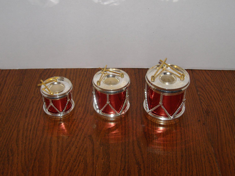 Drum Design Candle Holders