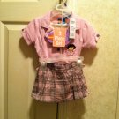 Dora The Explorer 3 Piece Skort Set  ( NEW) Size 12-18-24 Months