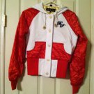 Baby Phat Red / White Hooded Jacket    Size S