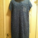 Women Navy Print Dress   Size XL