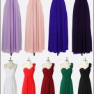 Stock Multi Colors Long Bridesmaid Dress A-line Chiffon Wedding Evening Party Dress MB06