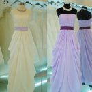 Stock Multi Colors Long Evening Dress A-line Chiffon Wedding Party Prom Dress EP01