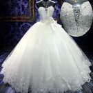Strapless Sweethart Wedding Dress Princess Crystal Rhinestones Bridal Wedding Gown H131129
