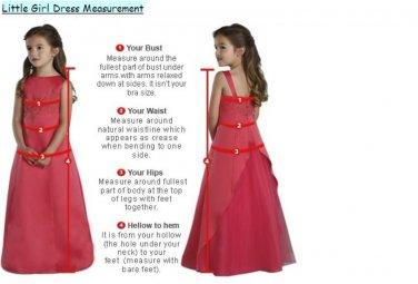 5 Stars Store Flower Girl Dresses Measure Guide Chart