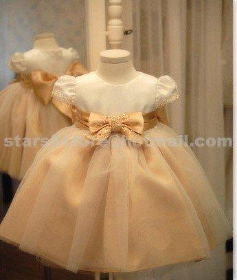 Elegant Custom Organza Girl's Wedding Party Prom Ball Gown Flower Girl Dress F101