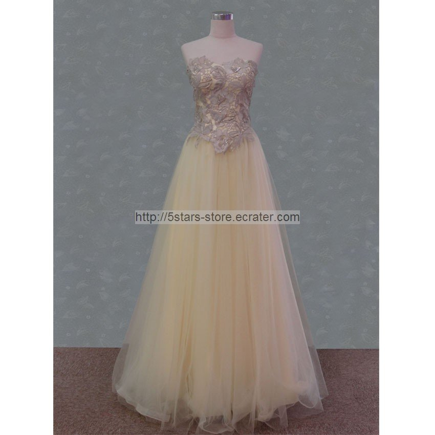 cream lace wedding dress red blue prom ball gowns evening
