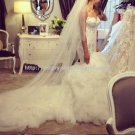 Sweetheart Wedding Dress Strapless Lace Trumpet Mermaid Bridal Dress D2015672