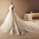 Strapless Wedding Gown Sleeveless Sequined Lace-up Bridal Gowns D2015675