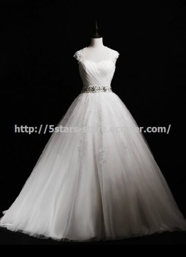 Square Bridal Gown Lace Beading Key Board  A-Line Wedding Gowns D2015730