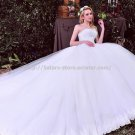 Strapless Bridal Ball Gown Sleeveless Sequined Floor-Length Wedding Dresses D2015731