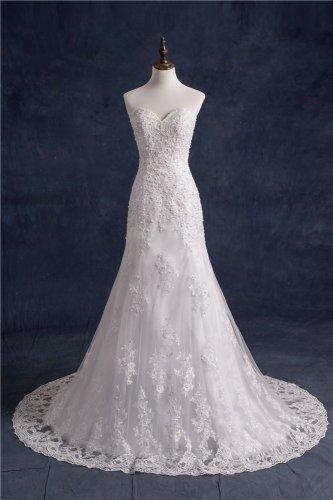 Mermaid Wedding Dresses With Jacket Beaded Lace Vintage Wedding Dress D2015786