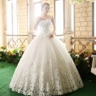 Sweetheart Neck Bridal Dress Double-shoulder Slim Women's Bride Wedding Dress D2015813