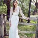 O-Neck Long Sleeve Wedding Dress Chiffon Custom-made High Quality Graceful Wedding Dress D2015837