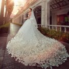 Sweetheart Brida Dress Sleeveless Cathedral-Train Wedding Formal Dress D2015850