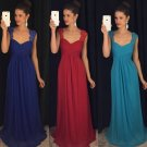 Sweetheart Chiffon Bridesmaids Dresses Backless Lace Long Eveving Gowns D2015926