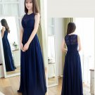 Long Bridesmaid Dresses Blue Purple A-line V-neck Corset Wedding Party Dress MB20181