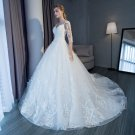 3/4 Sleeves Wedding Dress V-neck Full Lace Ball Gowns Tulle Ball Gown 2018 Bridal Dresses