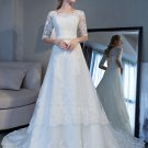 Short Sleeves Wedding Dress V-neck Full Lace Ball Gowns Tulle Ball Gown 2018 Bridal Dresses