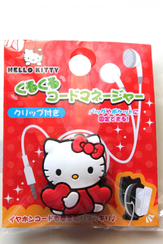 Cute Hello Kitty Earphone Cord Winder-sanrio stuff