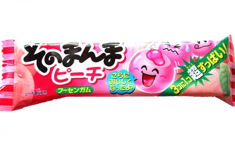 Peach Bubble Gum with Surprise Center- Japan Candy