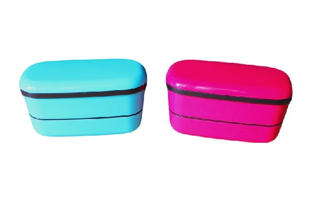 Blue Bento Lunch Box (stacked) Made in Japan- Japan Bento Supplies