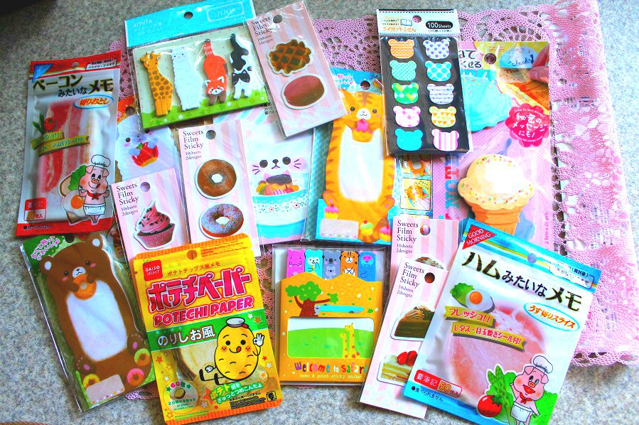 Kawaii Surprise Memo Pad/Notepads/Stick Markers Goodie Bag- Stationery Japan