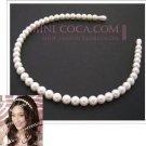 Cute White Pearl Beads Hair Band - Kawaii Hair Accessories