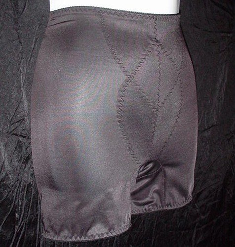 SERIOUSLY SeXy and Shimmery SPANKY TIGHT TUMMY TAMER Vintage BLACK GIRDLE Women's Medium!