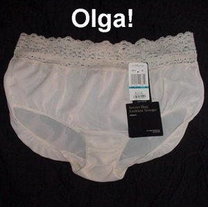 Vintage OLGA PANTIES Creamy Soft 100% NYLON Lacy NEARLY SHEER NEW w/TAGS (Size 2XL/XXL) Fits 1X~XL!