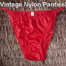 100% NYLON Vintage Panties Low Rise Creamy Soft Nearly Sheer Hipster Bikini Brief Panty Sz Large-XL!