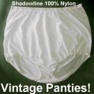 BUBBLE Brief Vintage Panties 100% NYLON Soft SHADOWLINE Panty HIGH WAIST Full Cut Sz 40-7-Large!