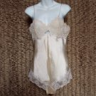 Vintage Panties Cami IVORY SATIN 1pc Panti-Slip ULTRA LACY Elegant Adorable Step in Chemise M-34-36!