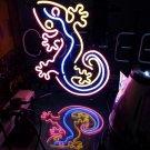 Tanbanner Gecko Bar Neon Sign Light Pink