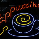 TANBANNER Neon Sign CAPPUCCINO COFFEE CUP NEON LIGHT N177