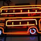 TANBANNER Art Neon Sign ENGLAND BUS LIGHT N197