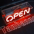 TANBANNER OPEN Glass Neon Sign Light D001R