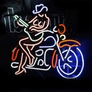 Tanbanner Motorcycle Cow Girl Guitar Bar Art Neon Light N162